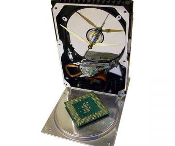 CPU Accented Hard Drive Clock