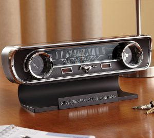 Ford Mustang Engine Sound Clock & Thermometer