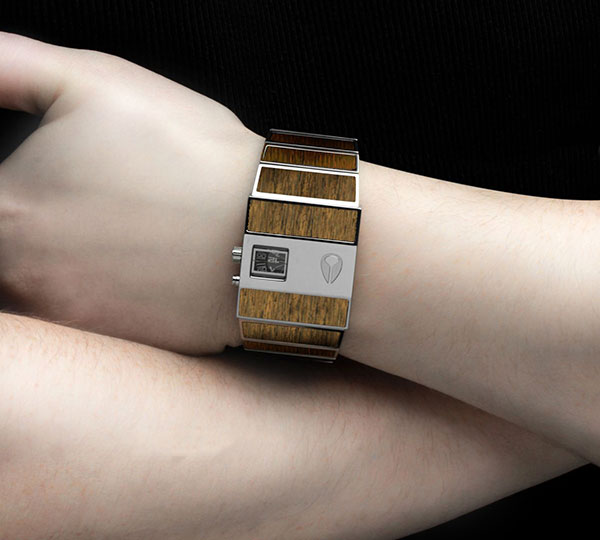 Mens Rotolog Walnut Watch