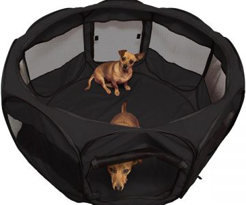 Portable Pet Playpen Kennel Crate