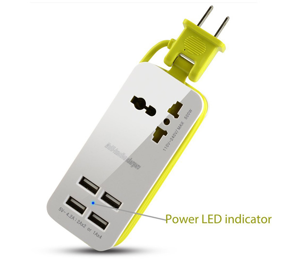 Portable Power Strip Travel USB Charger