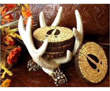 Deer Antler Coaster Set