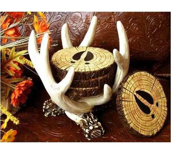 Deer Antler Coaster Set