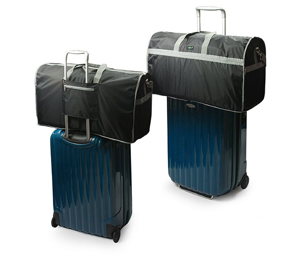 Foldable Travel Duffle Bag Attached to Luggage