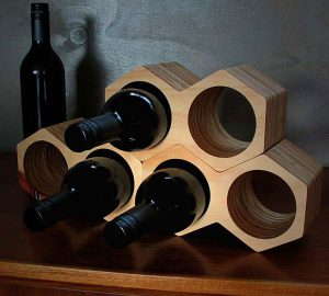 Geometric Honeycomb Wine Holder