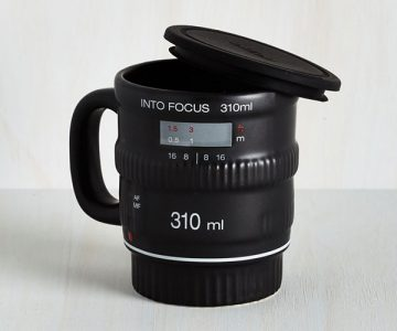 Quirky Camera Lense Pour and Shoot Mug