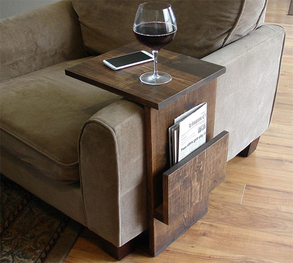 Sofa Chair Arm Rest Table Stand