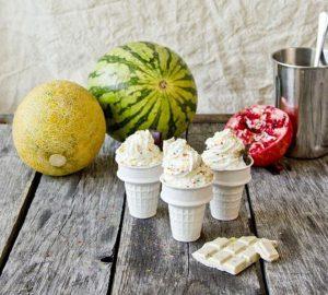 Ceramic Ice Cream Cone Cups