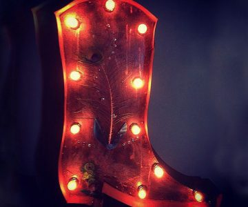 Cowboy Boot Marquee Light