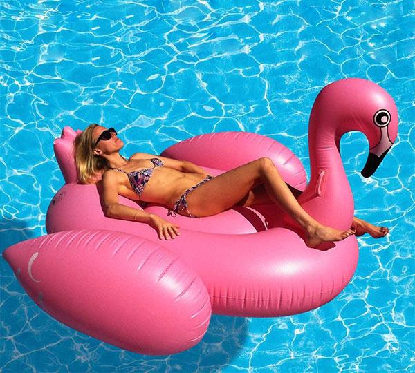 Giant Flamingo Inflatable Pool Float Toy