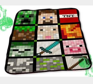 Gamers Minecraft Blankets