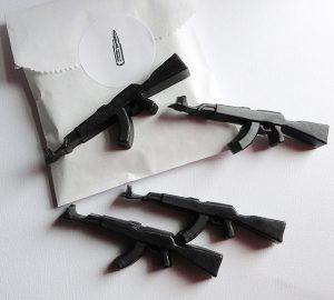 Mini AK 47 Gun Soap Set