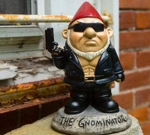 Gnominator Garden Gnome Statues