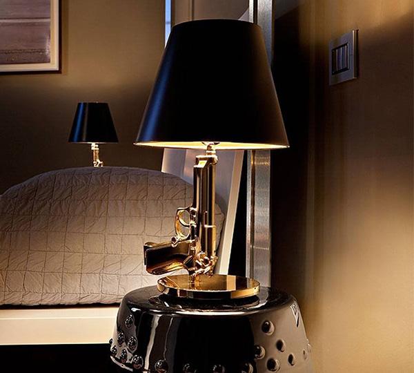 Gold Gun Table Lamp Light
