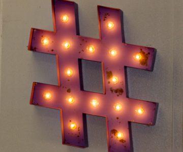 HashTag Marquee Light