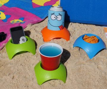 Turtleback Sand Drink Cup Holder Coasters