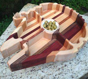 Wooden Millennium Falcon Platter