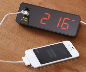 Alarm Clock with USB Outlet