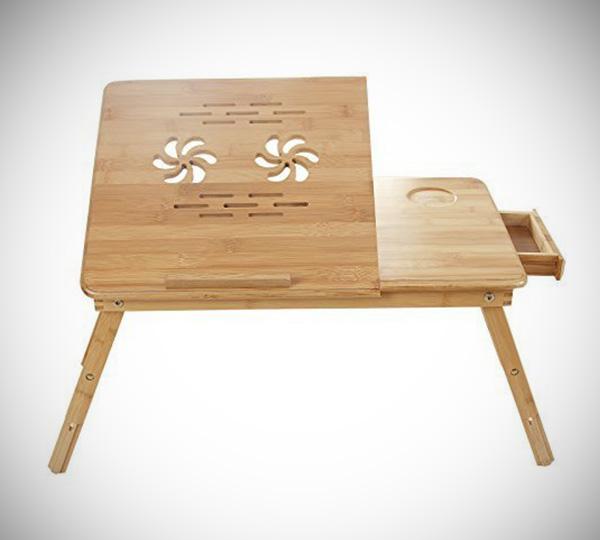 Bamboo Portable Laptop Desk Table