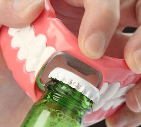 Denture Mouth Bottle Opener