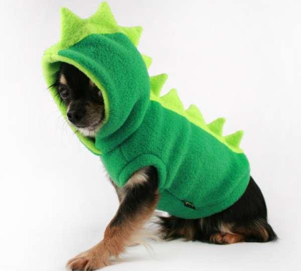 Dinosaur Spiked Dog Hoodie