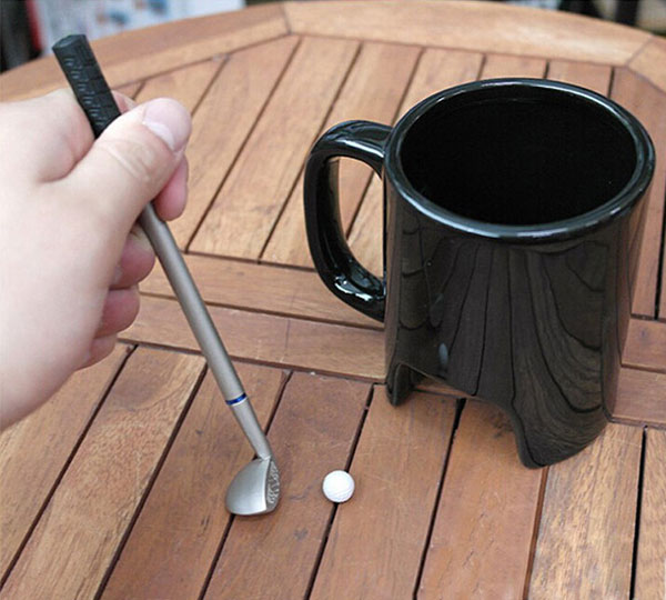 Golf in Office Coffee Cup