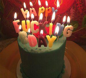 Happy F*cking Birthday Candles
