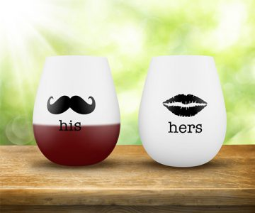 His and Hers Silicone Wine Glasses