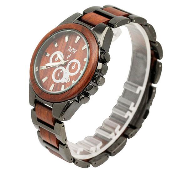 Mens Rosewood Wrist Watch