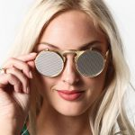 Netted Flip Up Metal Sunglasses