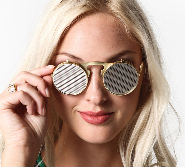Netted Flip Up Metal Sunglasses