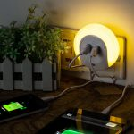 Night Light with Dual USB Wall Charger