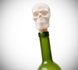 Skull Porcelain Wine Bottle Stopper