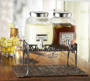 Williamsburg Glass Beverage Dispenser Set