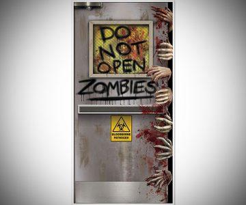 Zombies Lab Door Cover