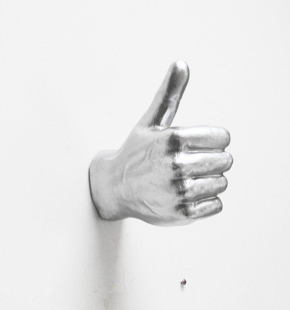 Silver Hand Wall Hook