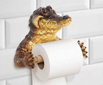 Crocodile Wall Mounted Toilet Paper Holder