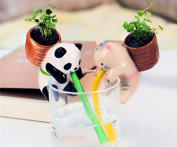 Cute Animal Self Watering Plant Pot