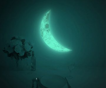 Luna Crescent Glow in the Dark Wall Sticker