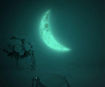 Luna Crescent Glow in the Dark Wall Sticker