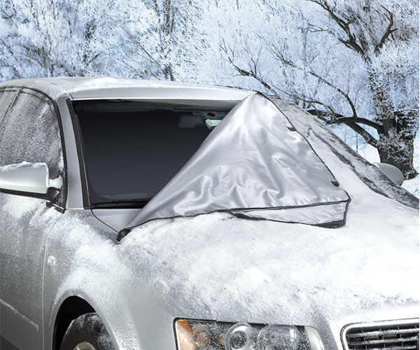 Quick Removal Windshield Snow Tarp