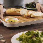 Slice and Serve Bread and Cheese Board