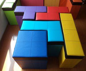 Tetris Shaped Storage Benches