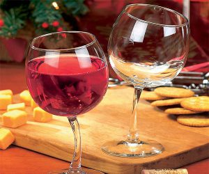 Tipsy Wine Glasses with Bent Stems