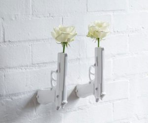 Wall Mounted Flower Gun Vase