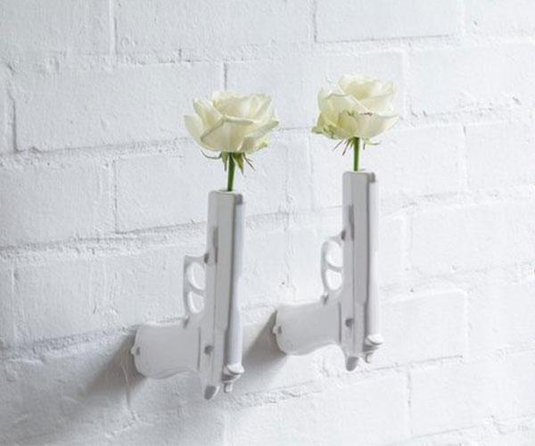 Wall Mounted Flower Gun Vase