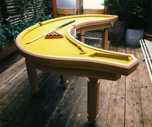 Banana Shaped Pool Table