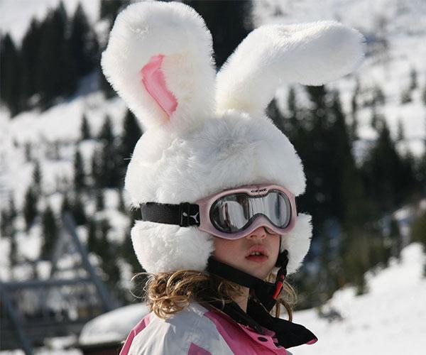 Big Ears Rabbit Ski Helmet Cover