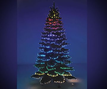 Cascading Color Light Show Tree