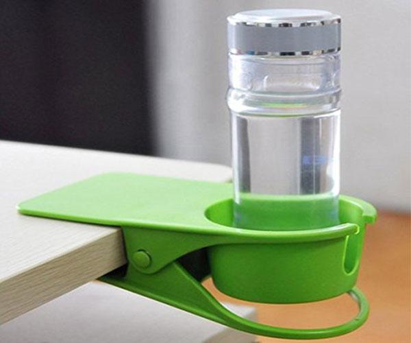 Desk Drinks Cup Bottle Holder Clip